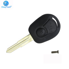 OkeyTech for Ssangyong Actyon Kyron Rexton Keys 2 Button Flip Replacement Uncut Blank Blade Key Shell Cover Case