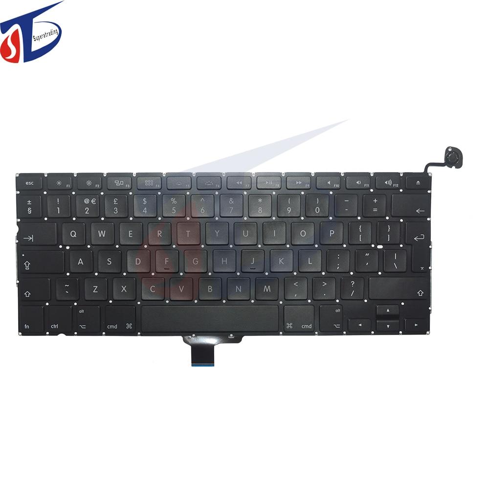 Original New 13 UK Keyboard FITS for font b Macbook b font Pro A1278 keyboard 2009