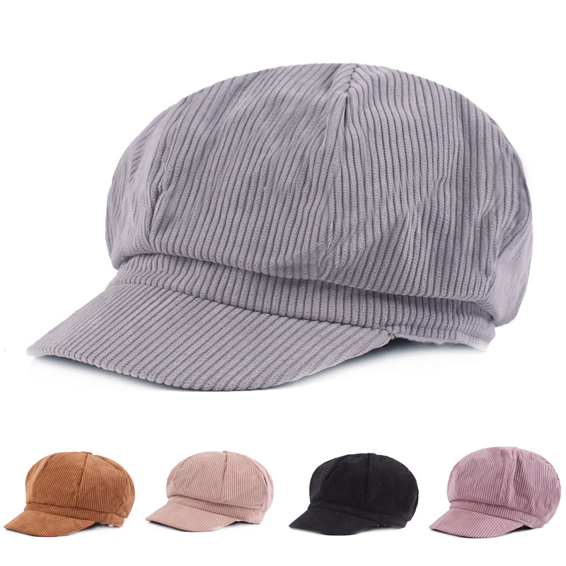 SILOQIN Berets For Women Autumn Fashion Artist Painter Newsboy Hat Snapback High Quality Cotton Leisure Tourism Octagonal Cap in Women 39 s Berets from Apparel Accessories