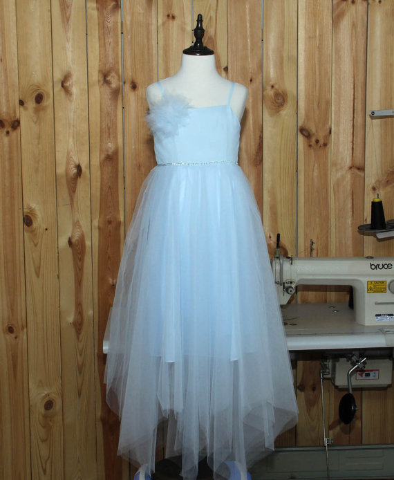Tulle Girl Birthday Party Dress A-line Flower Girls Dresses For Wedding Gowns Long First Communion Dresses for Girls