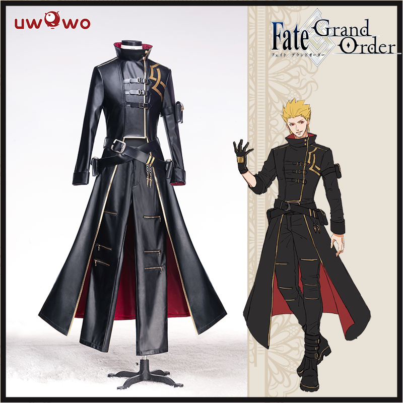 UWOWO Anime Fate Grand Order Cosplay Costume Fate Gilgamesh Cosplay Costume Full Sets Suit Concept Dress Cool Costume Men Women