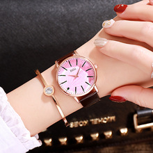 Designer Women Watches Simple Creative Ladies Dress Quartz Wristwatches Fashion Pink Leather Waterproof Clock relogio feminino все цены