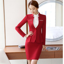 Womens formal suits Workwear office uniform designs women office suits blazers feminino spa uniform elegant business pant suits