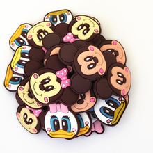 Wholesale 50pcs Random Mixed Mini Mickey Shoe Decoration Shoe Charms fit Children Croc Shoes Accessories Birthday Party Gifts