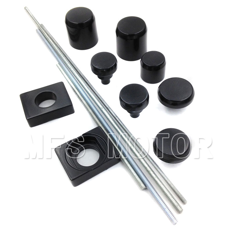 Motorcycle parts Axle Caps Covers For Kawasaki ZX14 ZX14R ZX-14R 2006 2007 2008 2009 Black aftermarket free shipping motorcycle parts eliminator tidy tail for 2006 2007 2008 fz6 fazer 2007 2008b lack