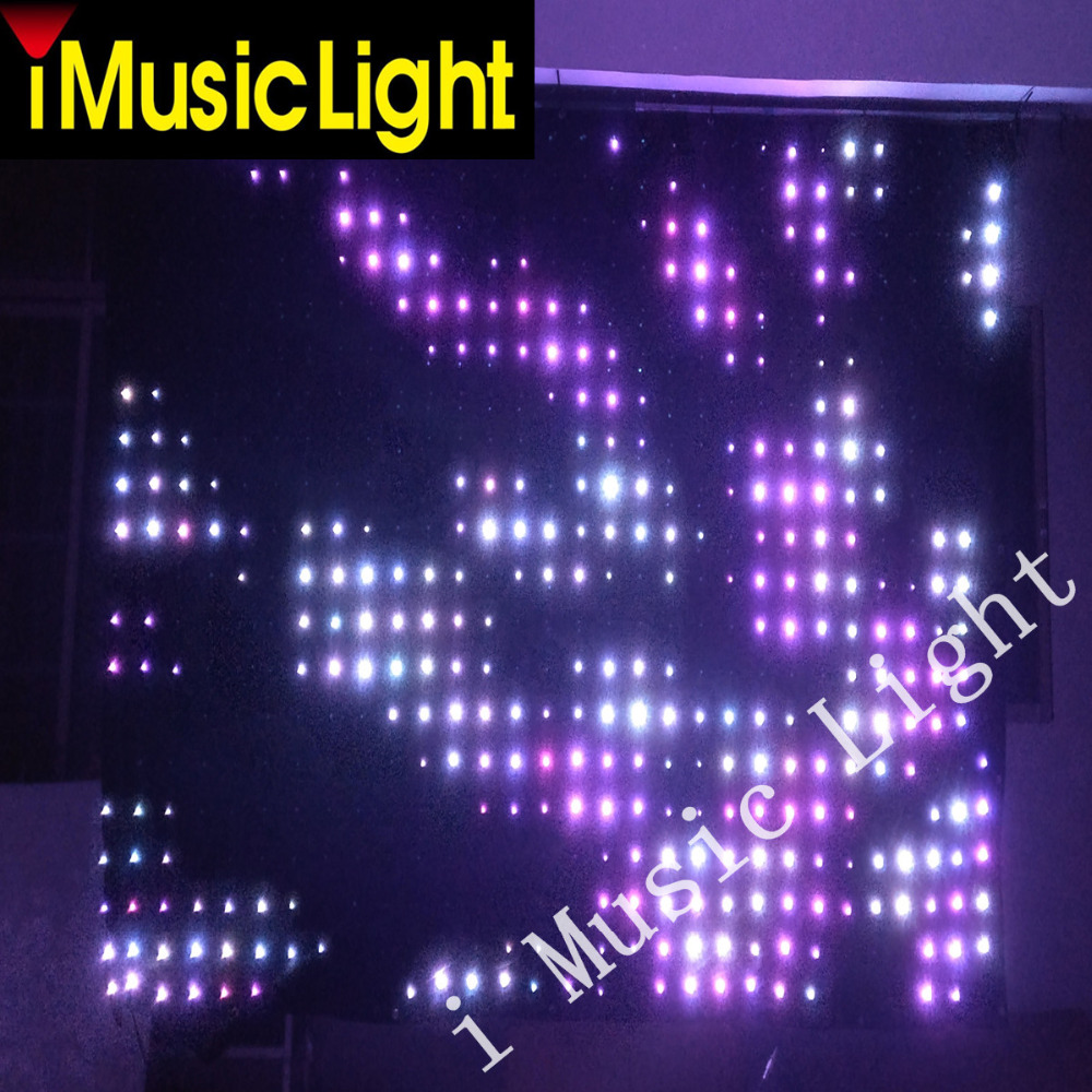 P10 2m 4m P10 Rgb Led Video Curtain Backdrop Band Party Stage Dj