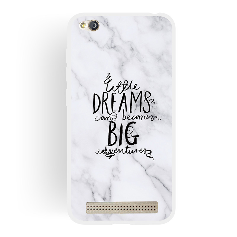 Frosted Cover For Xiaomi Redmi 5A Case Soft TPU matting Marble pattern covering Mobile Phone Cases in Half wrapped Cases from Cellphones Telecommunications