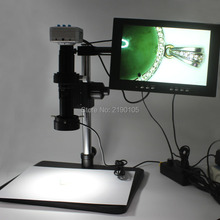 Wholesale HDMI USB16MP 1080P 60FPS  Industrial Microscope Camera+200X C-mount Lens+Fine Adjustment Bracket+LED light+HD 10-inch Monitor
