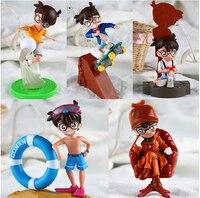 5 pz/set anime cartoon detective conan action pvc figure da collezione giocattoli bambole DC018