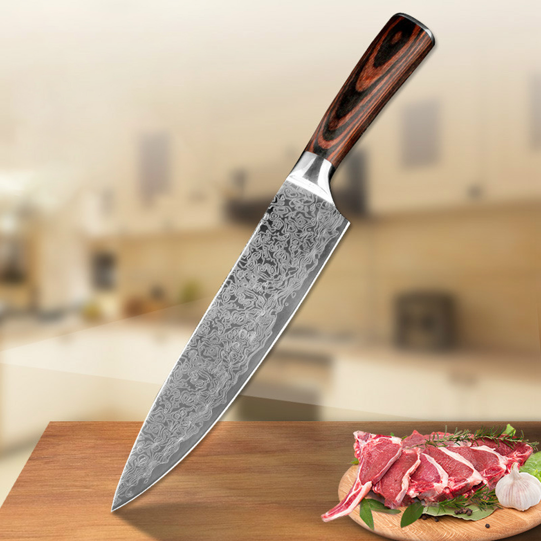 online buy wholesale damascus steel kitchen knives from china high quality 8
