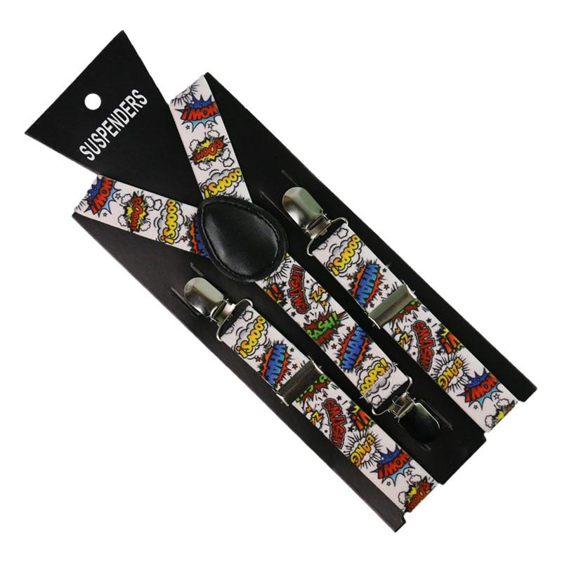 Children Letters Print Suspenders Baby Boys Girls Lovely Suspenders Clip-on Y-Back Braces Elastic Kids Suspenders Gift