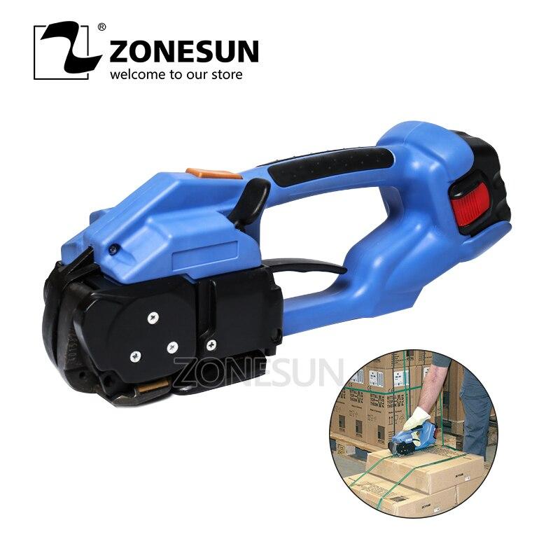 ZONESUN strapping machine ORT-200 batería eléctrica pet strap herramienta de embalaje herramienta de flejado de plástico eléctrico