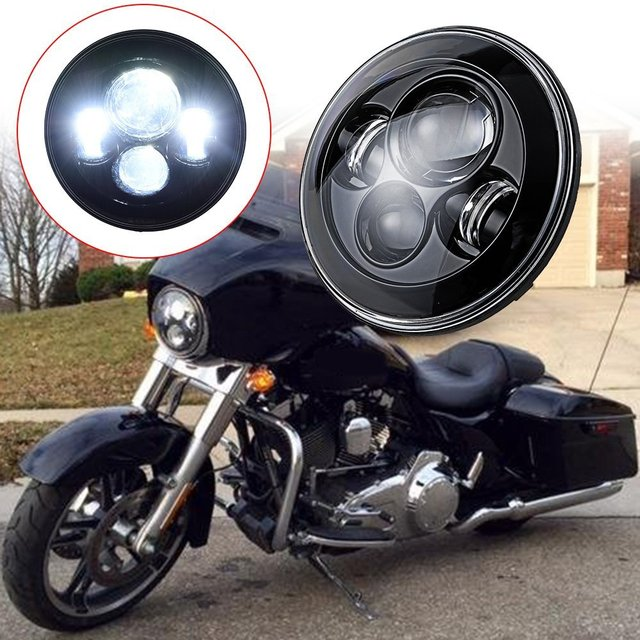 Harley motorcycles led headlights replacement, 7 inch motorcycle headlamps (DOT, SAE ,  E9)