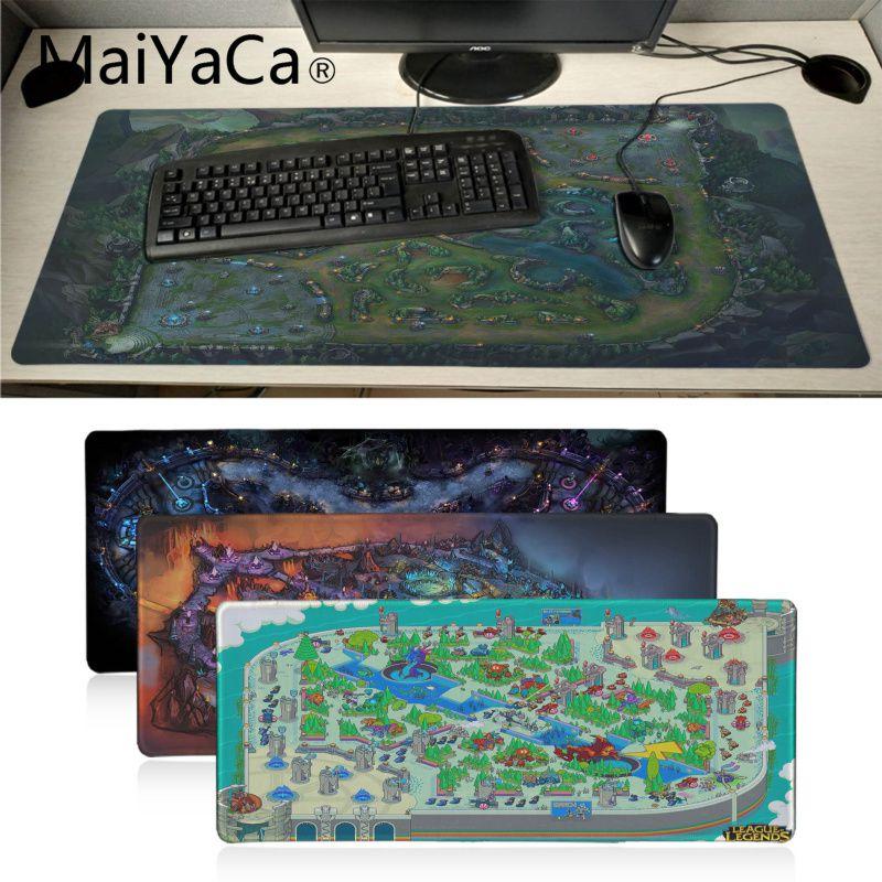 MaiYaCa Cool Fashion League Of Legends Map Gamer Play Mat Mousepad Large Gaming Mouse Pad Anti-slip Locking PC Computer Desk Mat