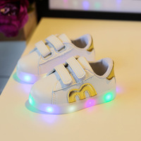 2018 Led Luminous Shoes For Boys Girls Fashion Light Up Casual Kids New Simulation Sole Glowing
