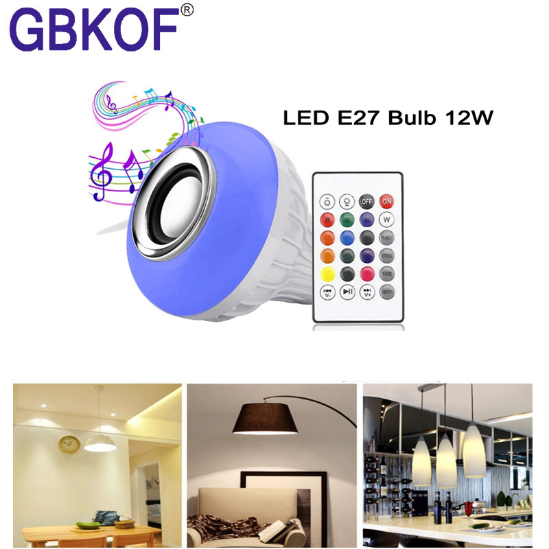 RGB LED Bulb E27 E14 GU10  LED Lamp Light 3W 5W 7W 12W 16 Color 110V 220V Bombillas Light+Control Dimmable Ampoule Led For Room