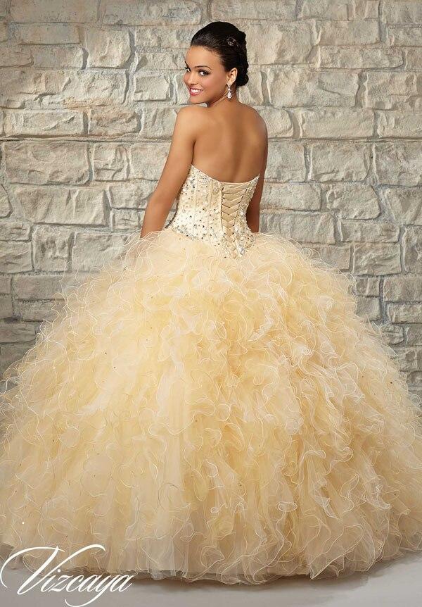 Aliexpress.com : Buy Two tone ruffled sweet 15 dress puffy beading ...