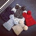 Geebro New Arrive Female Winter Two Pom Poms Knitted Hat Women Lovely Pompom Ear Beanies & Skullies Girl's Ski Cap Bonnet JS245