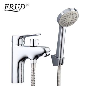 Image 1 - Frud 1set bathroom fixture Zinc alloy faucets with hand shower head toilet water basin sink tap bath sink faucet water mixer