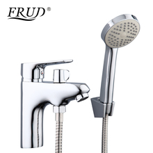 Frud Juego de grifos de aleación de Zinc con cabezal de ducha de mano, grifo de lavabo, mezclador de agua