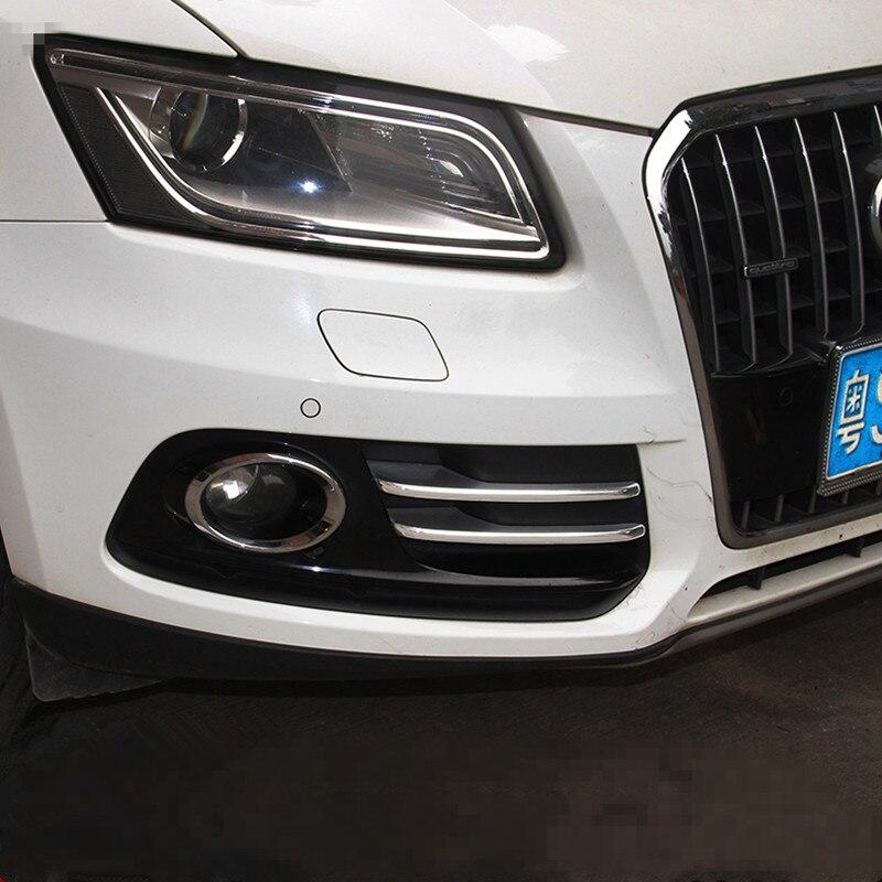 Автомобильный Стайлинг передняя задняя противотуманная фара декоративный светильник Накладка наклейка для Audi Q5 2009-2017 внешние автомобильн...