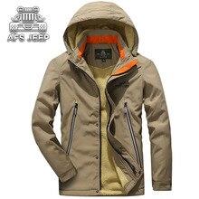 Winter Hooded Men jackets New 2018 Outwear Coats Brand AFS JEEP Men's Clothing Windbreaker Warm Breathable Fur Cold-Proof