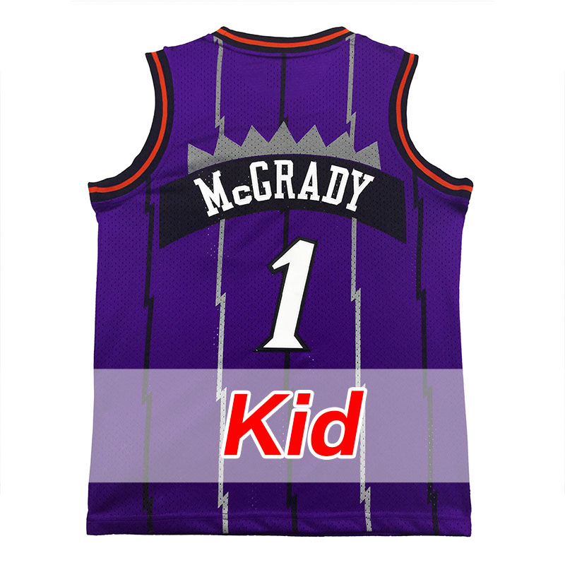 ... purple black jersey 8d542 c1f8c  new zealand mens throwback 1 tracy  mcgrady jersey youth 100 stitched retro basketball jersey free mens c5642e52f