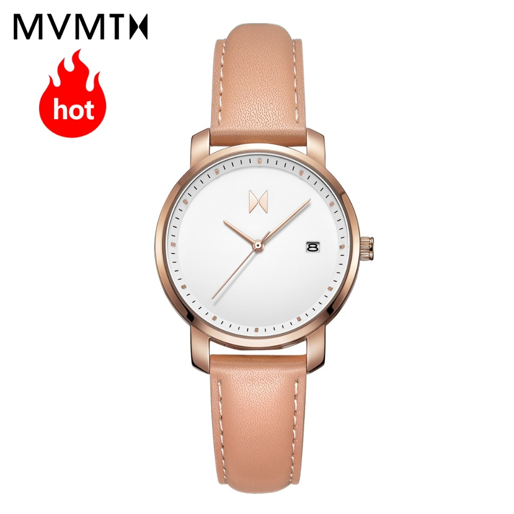 MVMT watch | Official flagship store Genuine fashion vintage students women's female watch genuine leather watch 38mmdw