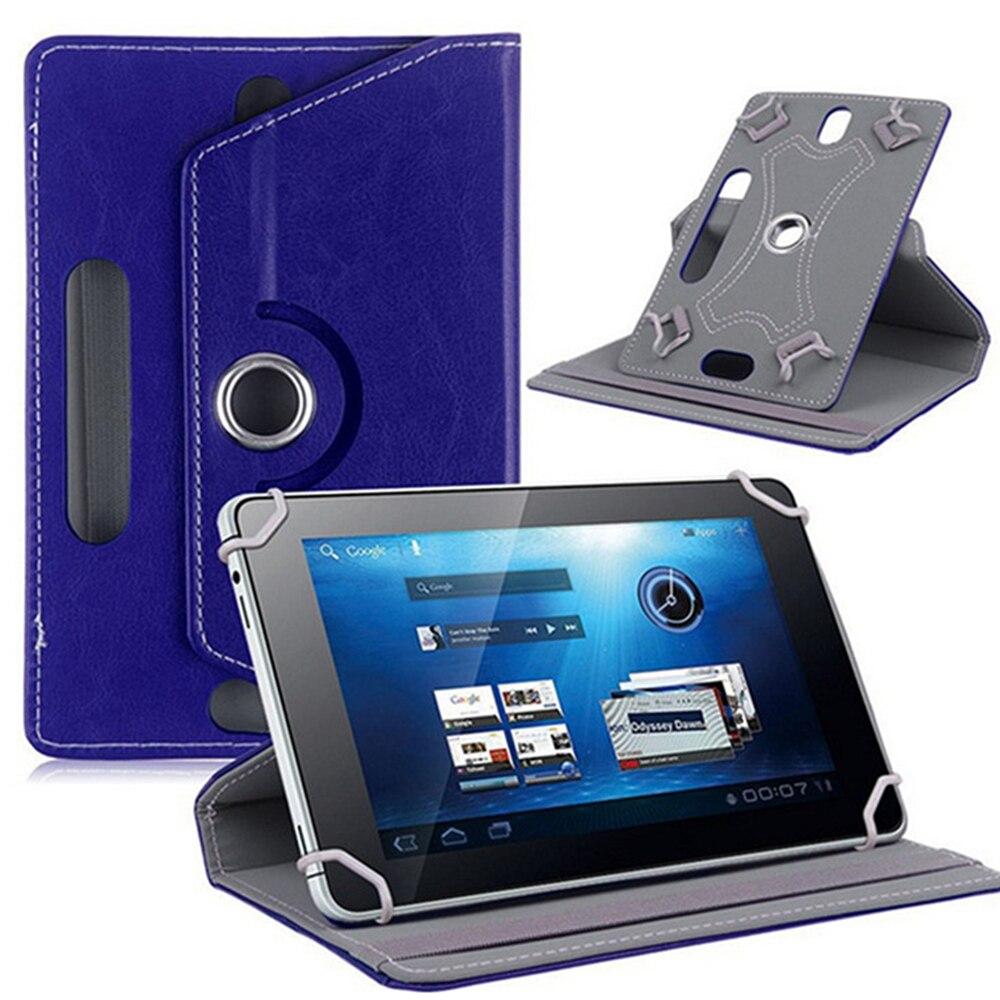 10 дюймов, 360 градусов, вращающийся чехол, чехол для универсального планшета, планшета, ПК, чехол, кожаный протектор, Универсальный Прочный рукав - Цвет: Navy Blue
