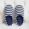 New Men's Winter Striped Cotton Slippers Fashion House  Floor Slipper Man Men Indoor Warm Soft Anti-Slip Home Shoe Pantufas