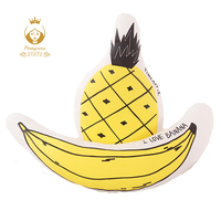 INS Creative Banana Pineapple Plush Filling Pillow Home Pillow Children S Room Decoration Pillow