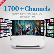Full Europen Sky Italian UK DE French IPTV Box 1700 1Year Free Sky Sport Channels Smart Android TV Box with WIFI Media Player