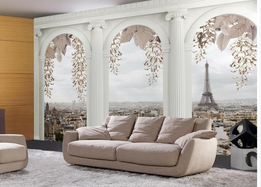 Home Decoration wallpaper for walls roll Roman columns Tower City custom 3d photo wallpaper 3d stereoscopic wallpaper custom mural 3d photo wallpaper european trend street graffiti ktv bar painting 3d wall murals wallpaper for walls 3 d