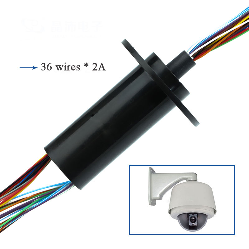 36 Channels 2A High Precision Slip Ring 57.3mm Capsule Conductive Slipring Out Diameter 22mm Gimbal slip rings Parts36 Channels 2A High Precision Slip Ring 57.3mm Capsule Conductive Slipring Out Diameter 22mm Gimbal slip rings Parts