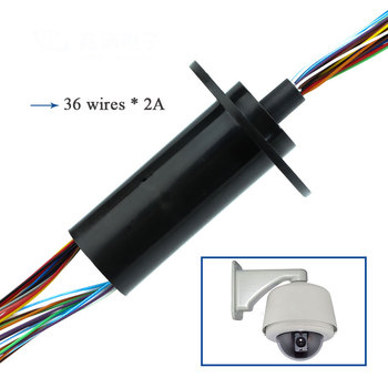 36 Channels 2A High Precision Slip Ring 57.3mm Capsule Conductive Slipring Out Diameter 22mm Gimbal slip rings Parts