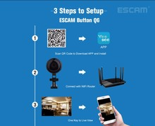 ESCAM Button Q6 720P WiFi IP Camera