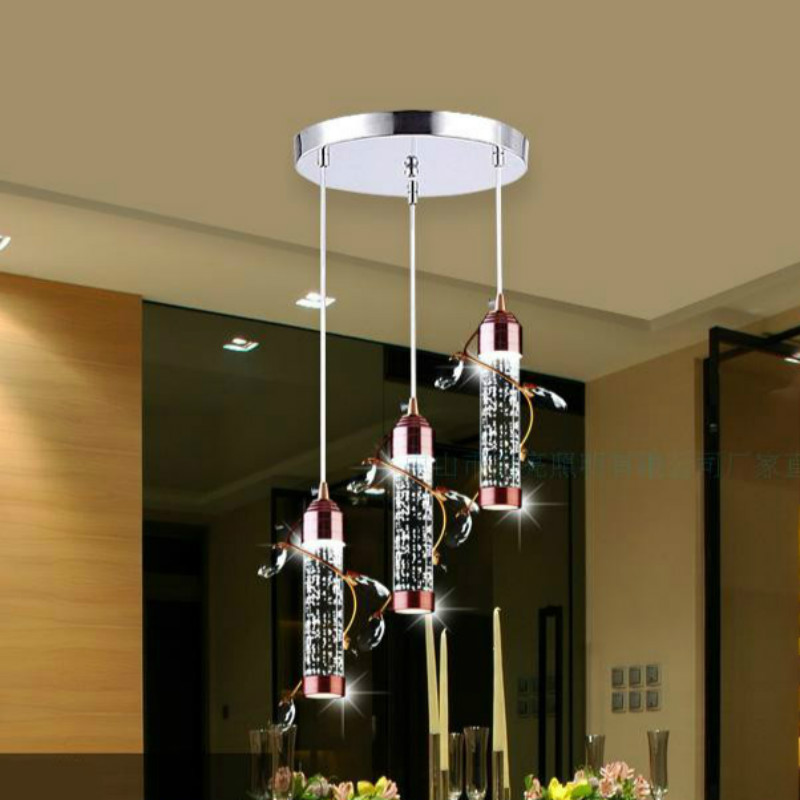 New Modern Fashion Romantic Bubble Acryl Led 5w*1/3 Heads Pendnat Light For Dining Room Living Room Bar Deco Ac 80-265v 2223 modern fashion luxurious rectangle k9 crystal led e14 e12 6 heads pendant light for living room dining room bar deco 2239