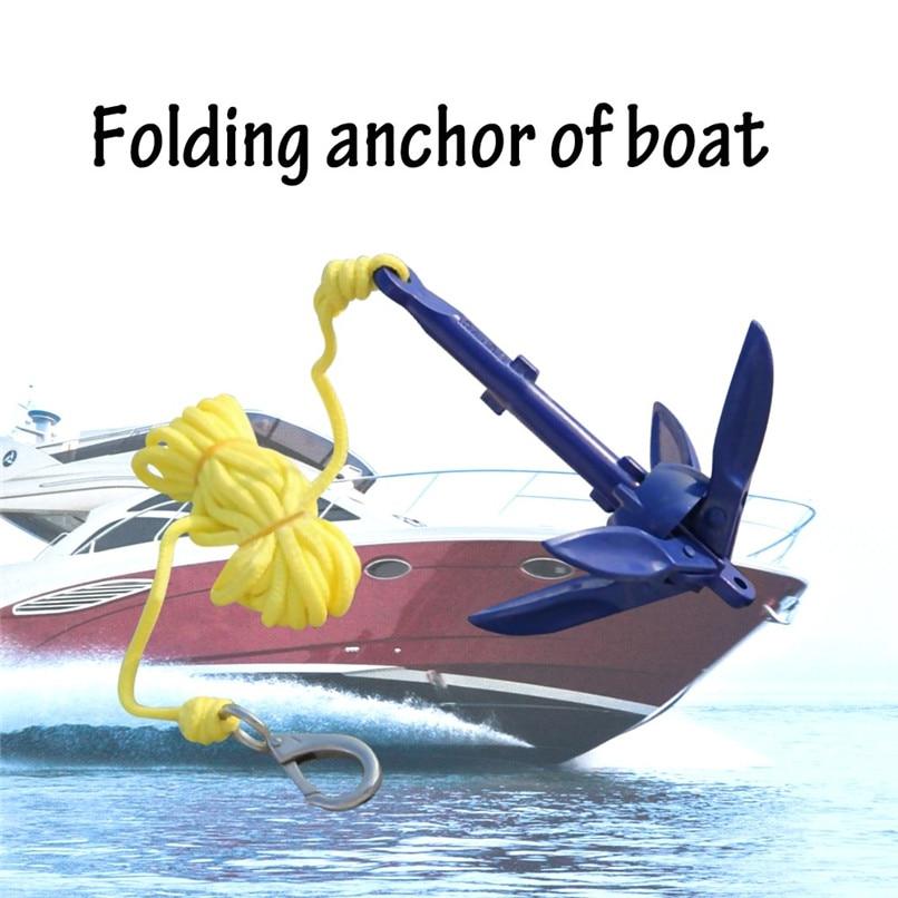 Kayak Fishing Boat Canoe Jet Ski Folding Anchor Buoy Rope Kit /& Storage Bag