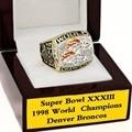 WITH WOOD BOX National Football League 1998 SUPER BOWL Denver Broncos 3D Design High Quality Replica CHAMPIONSHIP RING STR0-402