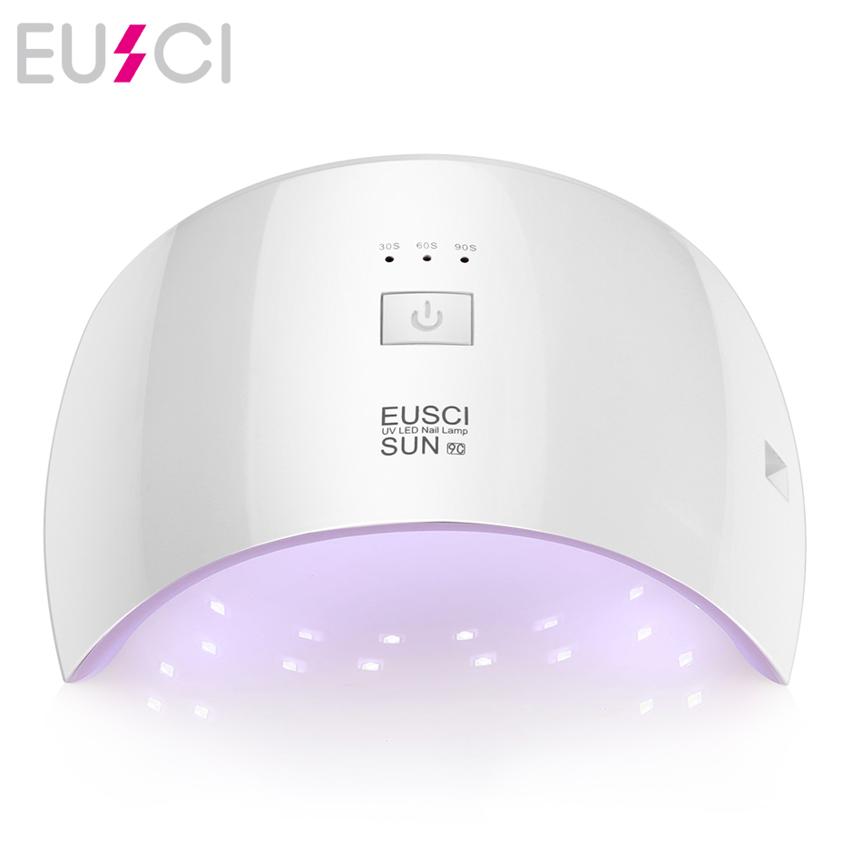 EUSCI SUN9c Plus 36W UV Gel Nail lamp 18 LEDs Nail dryer for All Gels with 30s/60s button Perfect Thumb Solution цены онлайн