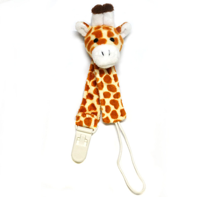 Cute Plush Baby Pacifier Holder Nipple Chain BabyTeether Chain Toy Dummy Holder Chain Pacifier Clip Pacifier Chain B0736 3