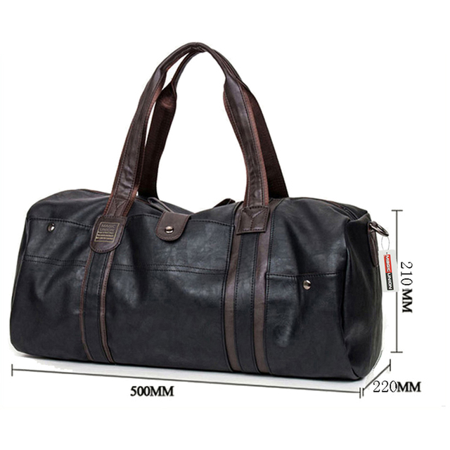 MAGIC UNION Brand Oil Wax Leather Handbags For Men Large-Capacity Portable Shoulder Bags Men's Fashion Travel Bags Package 1