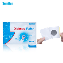 66 Unids = 11 bolsas Sumifun Nueva Diabetes Herbal Diabetes Cure Baja Diabetes Patch Diabético Tratamiento de la Diabetes D1276