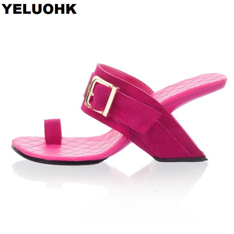 Fashion Strange Heel Women Slides Fashion Flip Flops Women High Heels Sandals Sexy Women Pumps Slippers