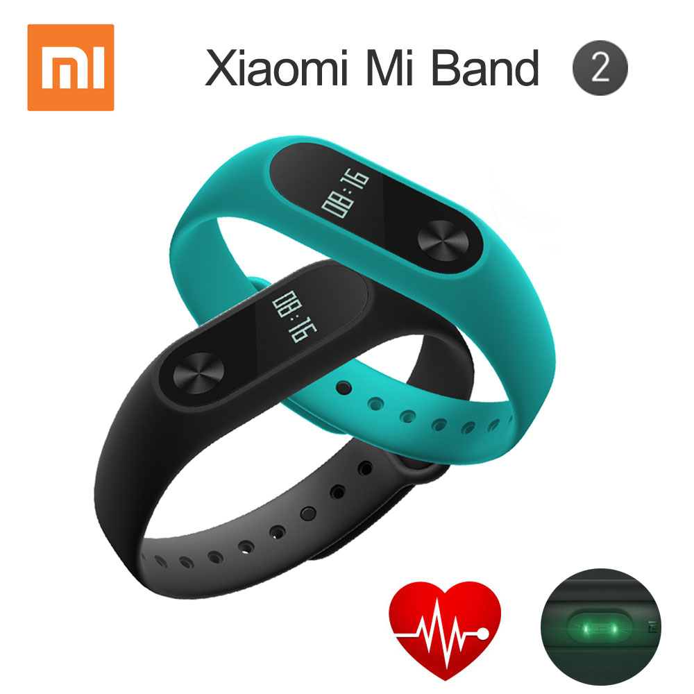 imágenes para Xiaomi Mi Banda 2 Pulsera Inteligente Miband Pulsera Pulsómetro 2 Gimnasio Rastreador Android Pulsera Smartband IP67