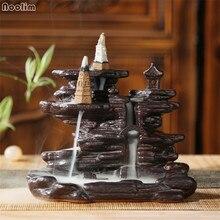 Ретро Керамика водопад курильница для благовоний горелки курильница печь для ароматерапии Керамика украшения дома чайная украшения