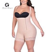 Womens Firm Control Full Body Shaper Plus Size Bodysuit Shapewear Underbust Waist Tranier Butt Lifter