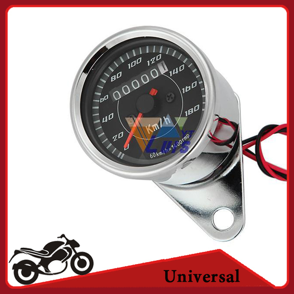 Motorcycle LED Backlit Dual Speedometer Odometer Gauge 0~180km/h Universal Speed meter for Honda Kawasaki Yamaha Suzuki ATV Bike