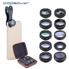 capsaver 10 in 1 Phone Camera Lens Kit Universal Fish Eye Ma