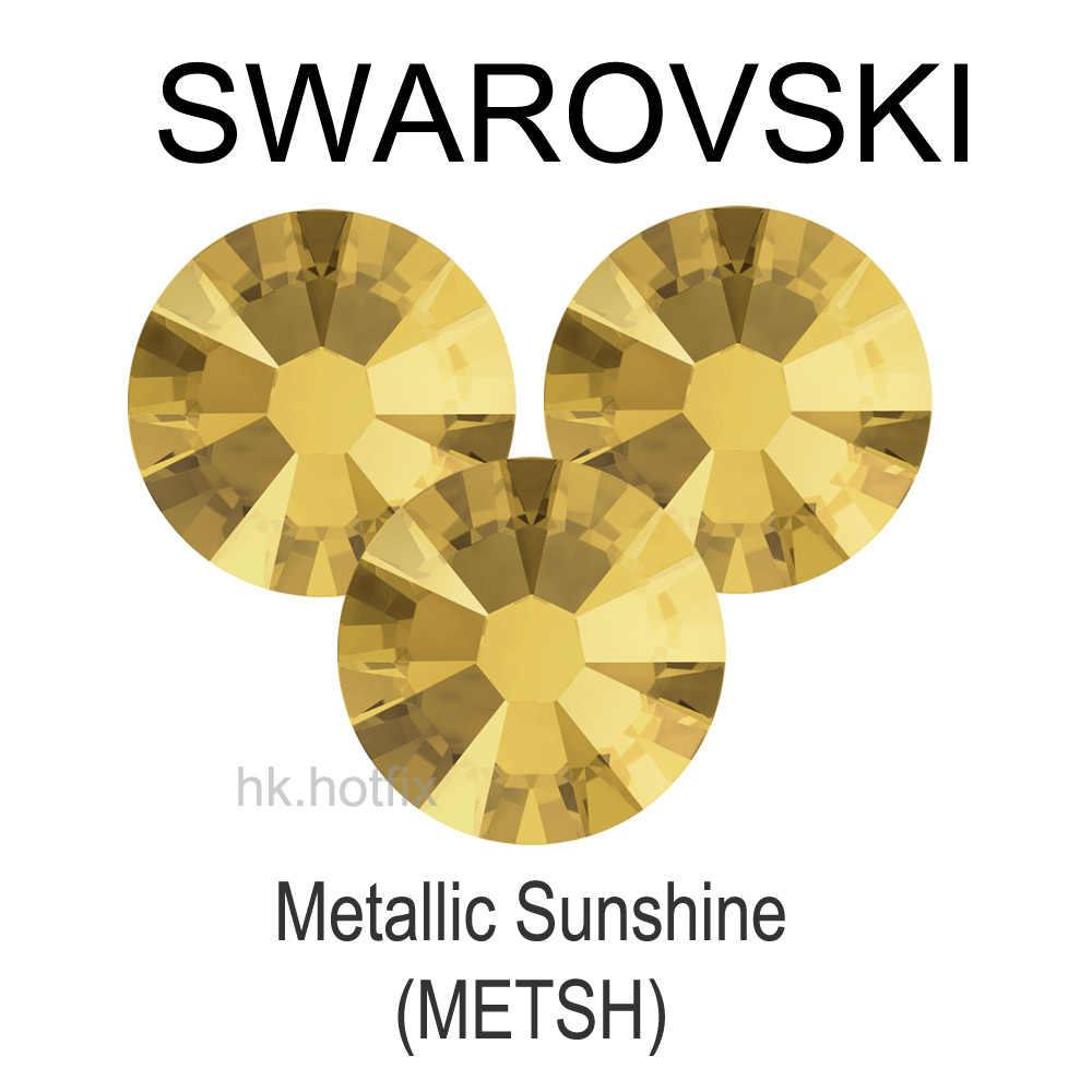 ss34 GENUINE Swarovski Elements Crystal Metallic Sunshine (METSH) 12 pieces  34ss ( No- 8b7b1e08e68d